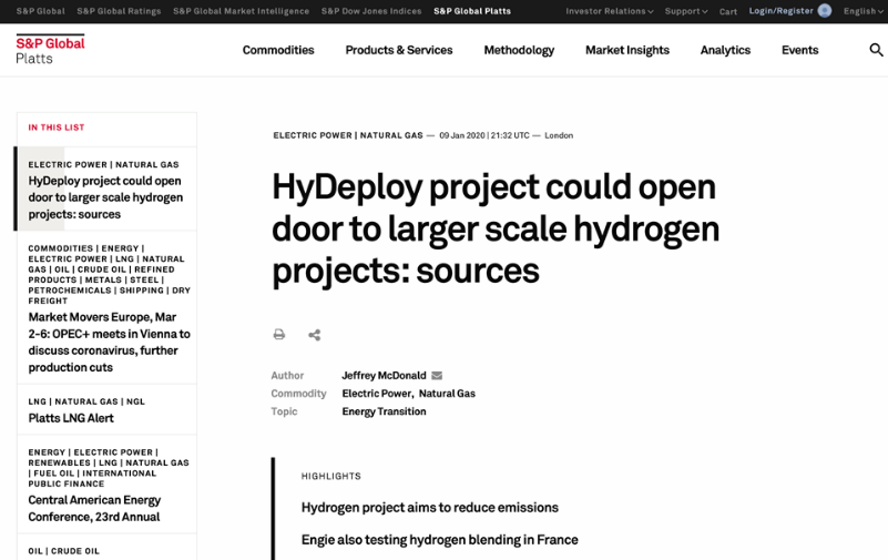 HyDeploy project could open door to larger scale hydrogen projects
